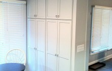 Long White Kitchen Cabinets