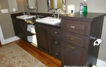 Dark Brown Custom Bathroom Cabinets