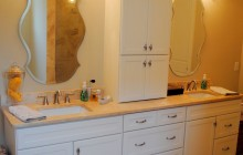 Double Bathroom Sink & Mirror