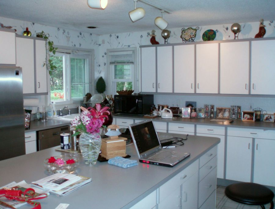 with brand new stainless steel appliances dark lighting and a brand new marble tile countertop this kitchen is surely a place to throw a fancy party or - Hebbar Kitchen